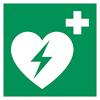 AED bzw. Defibrilator Hinweis-Zeichen